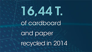 16,44 T. of cardboard and paper recycled in 2014