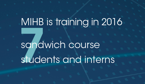 MIHB is training 7 sandwich course students and interns in 2016
